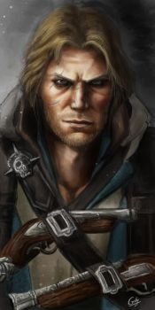 portrait of edward kenway by chimicalstar