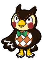 Animal Crossing - Blathers Sticker by Sparkle-And-Sunshine
