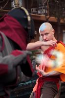Aang- Airbending by twinfools