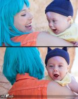 Cosplay: Baby Trunks Bulma Compilation by Adella