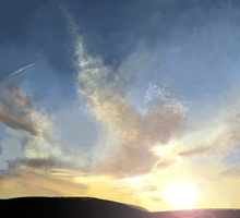 Sunset Speedpaint by LittleBird-Arts