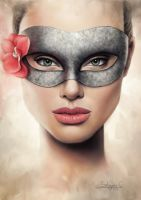 Angelina Behind the Mask by salomnsm
