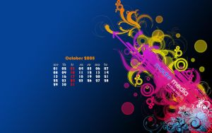 Desktop Wallpaper Calender Oct by MadreMedia