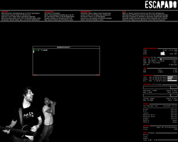 screenshot: openbox with conky by escapado