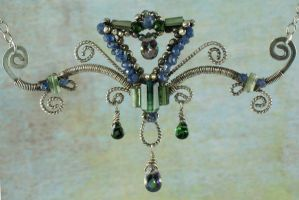 Sapphire Tourmaline Victorian by AniqueDesigns