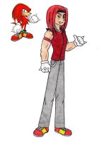 Humanized Knuckles by ClariceElizabeth