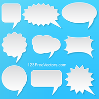 Abstract Vector White Speech Bubbles Set by 123freevectors