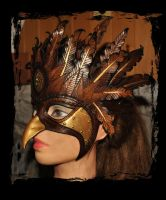 Griffin Leather Mask 3 by Lagueuse