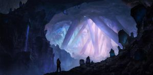 Crystal cave by PiotrDura