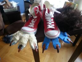 werewolf shoes wip by Sibale