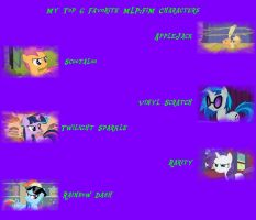 My Top 6 MLP:FiM Characters by JessicaBane501