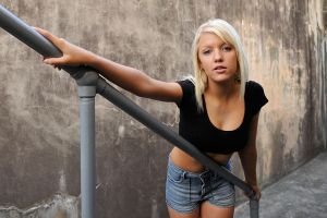 Kirsty - black top at railing by wildplaces