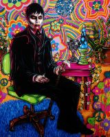 Dark Shadows Contest Acrylic Painting by VanZanto