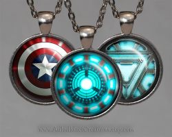 The Avengers Jewelry Necklace Set, Iron Man by wizardcopy