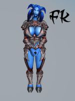Draenei Iron Maiden by F-Kn