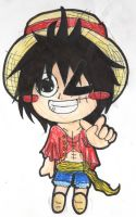 .... I should NEVER draw Luffy again....... XD by V-P-aurore-star