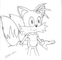 Miles Tails Prower Sketch by Sonic-Gal007