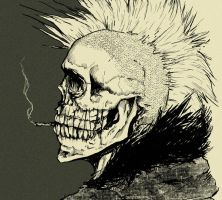 Punk skull by Mndcntrl