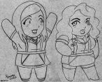 Chibi 2 Broke Girls by ChibiCelina