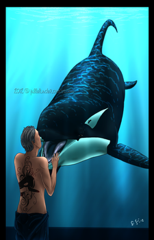 The Kiss of the Orca by Jullelin