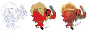HellBoy sketch for fun... by makampo