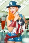 Captain America Cowgirl Stephanie Castro Cosplay by wbmstr