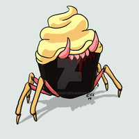 I JUST WANTED TO DRAW A CUPCAKE by toadking07