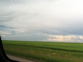 Driving in Saskatchewan (So Flat) by Puffnpluky
