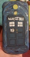 TARDIS Phone Cover by FierceDeityGirl