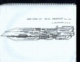 Neopian dreadnaught cruiser by WMDiscovery93