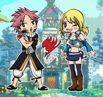 Natsu and Lucy by DatNes