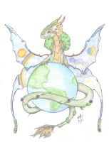Earth Dragon -Around the Globe by KS-Portfolio