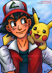 CM: Older Ash and Pikachu by Cascadena