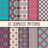 10 Boho Style Seamless Patterns  Backgound by FreeIconsdownload