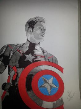 Captain America by Emmris-Dessin