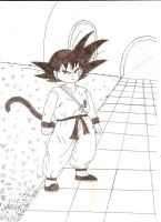 Son Goku challenging Piccolo by Fan-Evelyne
