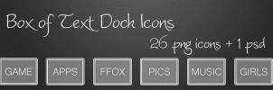 Box of Text Dock Icons by MrPorter
