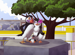 Puffin's family by Pixie-van-Winkle
