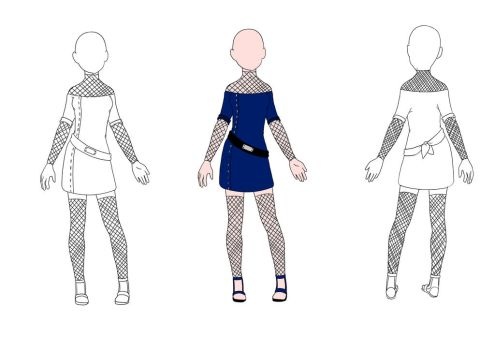 Adoptable Outfits Naruto-Stil 1 by oOYunaOo