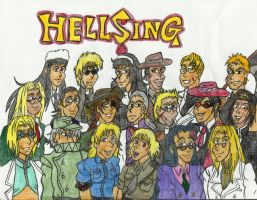 Characters of Hellsing by kaitlynrager