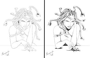 Medusa of The Future In Process by GreenGosselin