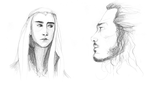 Thranduil and Bard the Bowman by februarymoon