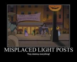 Light Posts Demotivational by Werewolfsbane