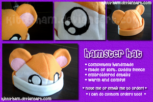 Handmade Hamster Hat by Kitty-Ham