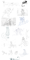 Sketch and Lineart dump by Maquenda