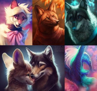 Experimental portraits by Lhuin