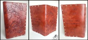 Smaug the Magnificent Leather Book Cover by JAFantasyArt
