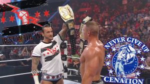 CM Punk and John Cena Collide by cozzie333