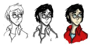 HP: Drawing Harry by InvisibleDeath