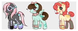 Moe Pony Adopts (Set Price/OPEN) by Desiree-U